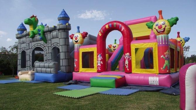 castelli e scivoli per bambini