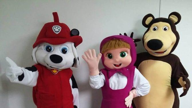 masha e l orso personaggi feste