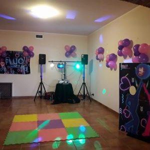 Fluo Party Postazione Foto e Luci
